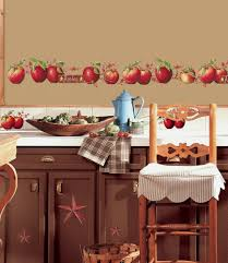 Country Themed Kitchen Decor Apples 40 Big Wall Decals Stars Border