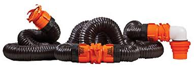 Amazon Camco RhinoFLEX 20ft RV Sewer Hose Kit Includes Swivel Fittings And Translucent Elbow With 4 In 1 Dump Station Fitting Storage Caps Included