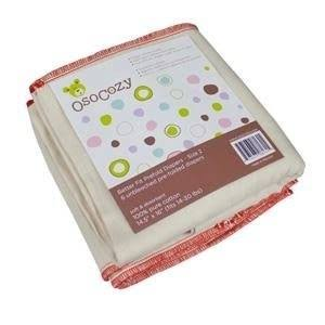 Osocozy Better Fit Cotton Prefolds Cloth Diapers - Size 2