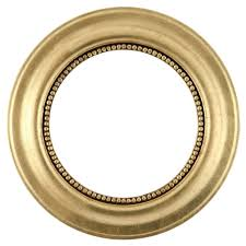 Golden Round Frame Transparent Background