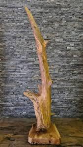 teak holz kunst treibholz statue deko skulptur aufsteller