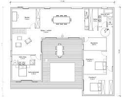 maison en u avec patio plans maisons