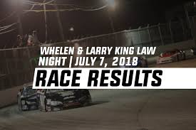 100 Nascar Truck Race Results Whelen Larry King Law Night July 7 2018 Larry