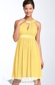 cute bridesmaid dress idea delicate empire waist halter short