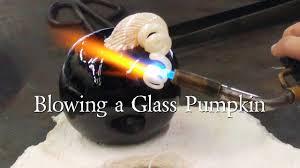 Glass Hand Blown Pumpkins blowing a glass pumpkin youtube