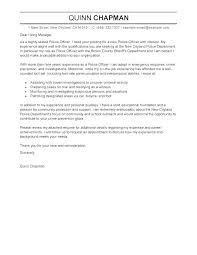 Sample Cover Letter Police Officer Position No Experience Law Enforcement Best Le