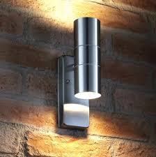 outdoor wall lights with sensor dusk till stainless steel up