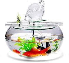 fischtank aquarium mit desktop kreative runde glas aquarium