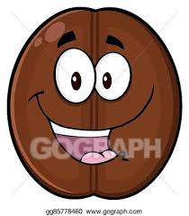 Happy Coffee Bean Character