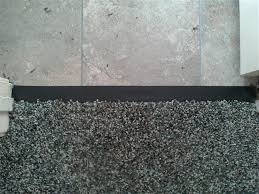 Carpet To Tile Transition Strip On Concrete by Mira Loma Transition Strip Inland Empire Carpet Repair