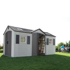 unique lifetime dual entry outdoor storage shed 31 for canadian