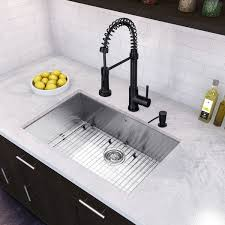 Overstock Stainless Steel Kitchen Sinks by Vigo All In One 30 U201d Ludlow Stainless Steel Undermount Kitchen Sink