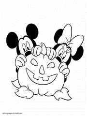 Free Printable Pumpkin Coloring Pages Disney Characters