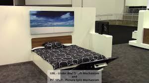 unter bett lift für flachbildfernseher schienenlösungen