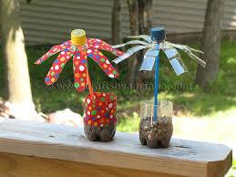 Plastic Water Bottle Flowers