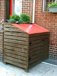 garbage can storage shed wood storage sheds for garbage bins