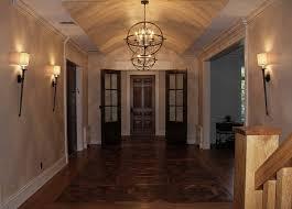 Rustic Chic Chandelier In Hallway