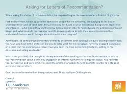 UCLA Anderson EDGE Ideas How to Ask for Letters of Re mendation f…
