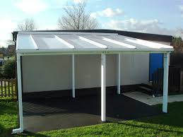 Diy Wood Patio Cover Kits by Aluminium Free Standing Canopy Lean To Patio Cover Carport Ebay