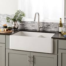 Farmhouse Double Bowl Concrete Kitchen Sink