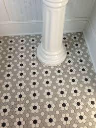 tile ideas 5 inch hexagon floor tile large hexagon tile black