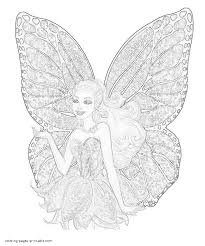 Free Coloring Pages Barbie Mariposa And The Fairy Princess