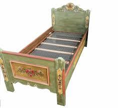 voglauer anno 1800 altgrün einzelbett kinderbett bett 330