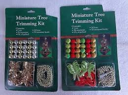 CHRISTMAS MINIATURE TREE TRIMMING KIT 4 Mint In Packages