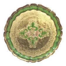 Daher Decorated Ware History by Vintage U0026 Used Green Trays Chairish