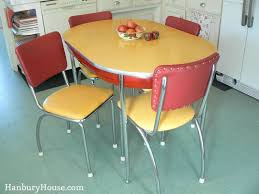 1940's Red And Yellow Formica Table And Chairs Dinette Set ...