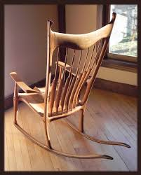 Sculpted Rocking Chair From The Workshop Of Josh Hicks ...