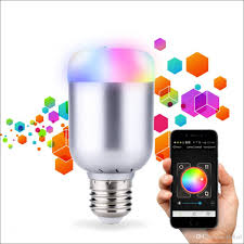 best smart rgb color changing led light bulb wireless bluetooth