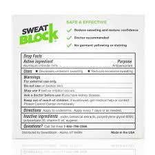 Amazoncom SweatBlock Antiperspirant Clinical Strength Reduce