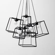 Modern Cube Box Frame Pendant Light 1 Geometric Lamp Lustres DIY Hanging