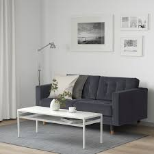 landskrona 2er sofa samt dunkelgrau holz