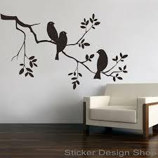 vögel auf ast zweig wandaufkleber wandtattoo wandsticker