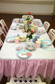 high tea table decorations for our 6 year daughters birthday