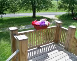 Rustic Window Box Flower Centerpiece Country Deck