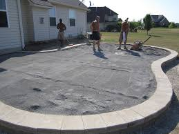 others large concrete pavers for quickly create a patio with a