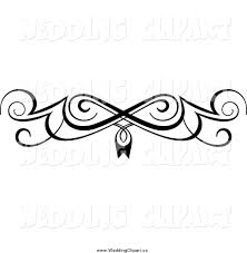 Wedding Clip Art Black And White Border Swirl Design Clipart