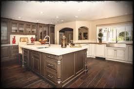 Dark Wood Floors Kitchen Fresh Brown Floor Antique White Cabinets With Maple Oak Light Cabinet Doors