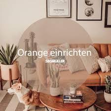 orange einrichten wohnzimmer wohnzimmer orange