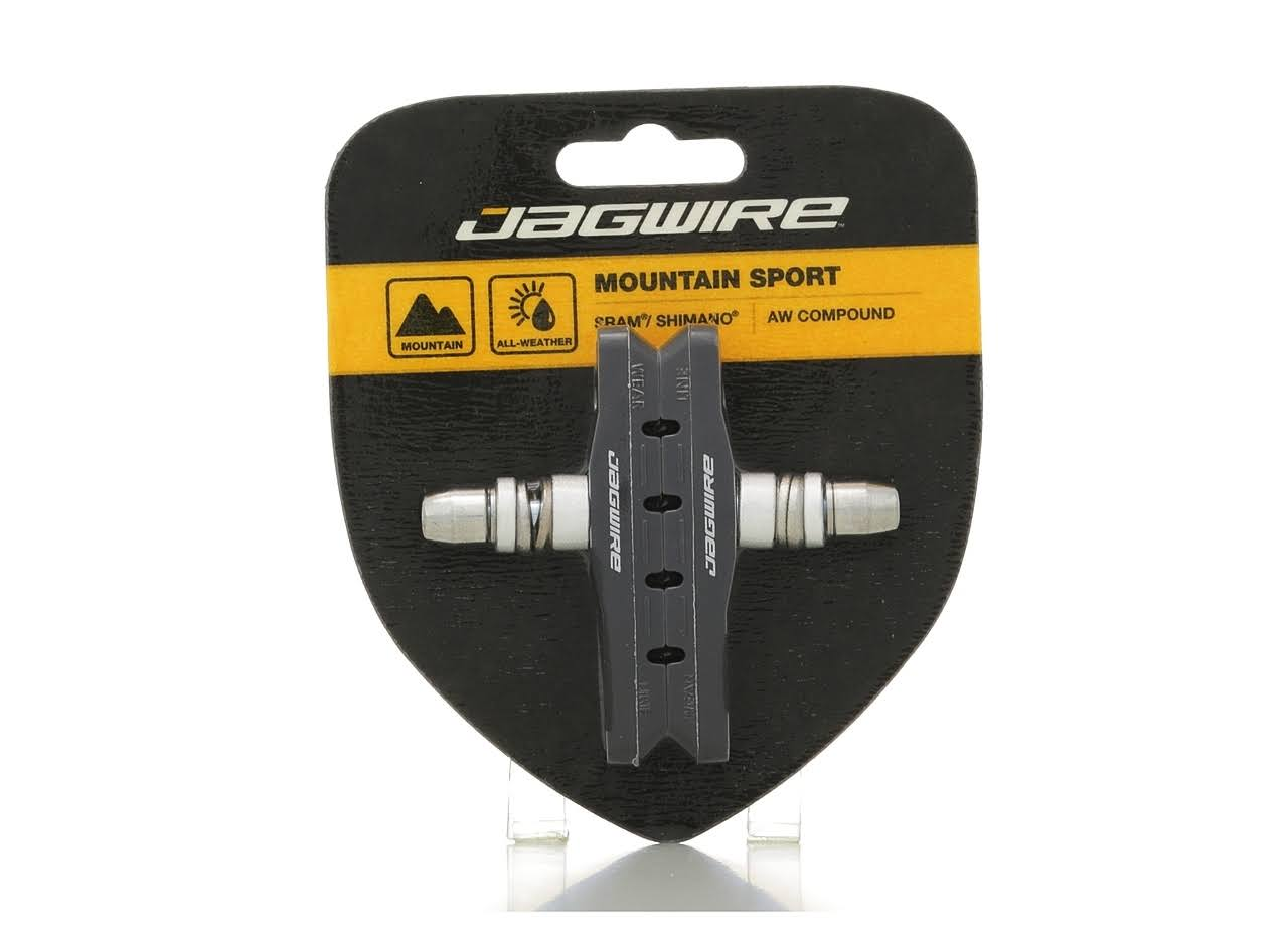 Jagwire Basics Comp Mountain XC Bicycle Linear Pull Brake Pads - Pair, Black