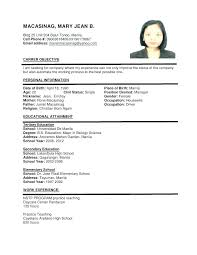 Format Of A Resume Writing Pdf Download Free
