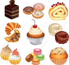 Pastries and cakes clipart