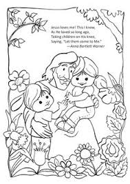 Jesus Loves The Little Children Coloring Page Fan Picture