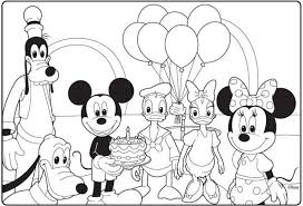 Mickey Mouse Clubhouse Birthday Coloring Page Intended For