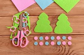 How To Sew Christmas Decoration Step Felt Tree Patterns Scraps