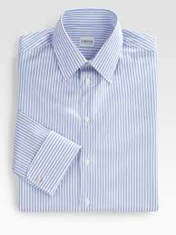 armani striped dress shirt in blue for men lyst