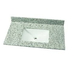 Aquasource Pedestal Sink Rough In by Home Decorators Collection 37 In W Granite Single Vanity Top In